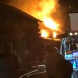 長野市大字柳原付近で火事が今日発生