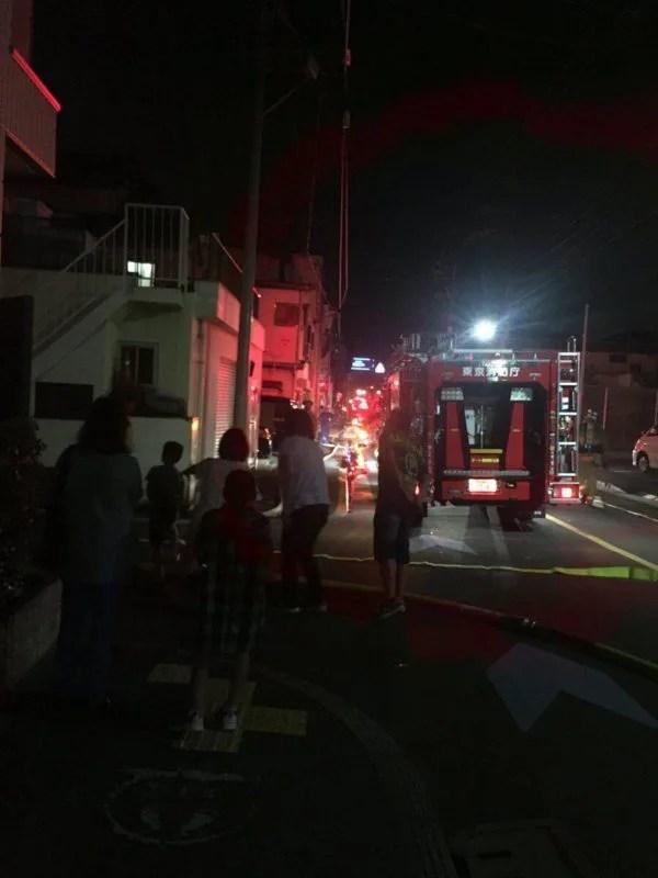 東京都大田区東糀谷5丁目で火事
