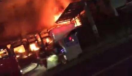 マルハン千葉北付近で火事