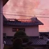 滋賀県大津市本堅田三丁目付近で火事 2019年10月30日