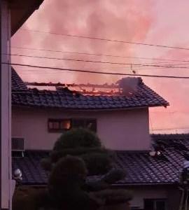 動画 滋賀県大津市本堅田三丁目付近で火事が今日発生 Twitter速報画像10月30日