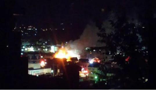 伊那市中央中央区第一付近の火災