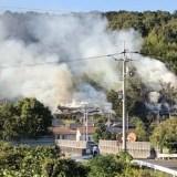 広島県福山市坪生町付近で火事