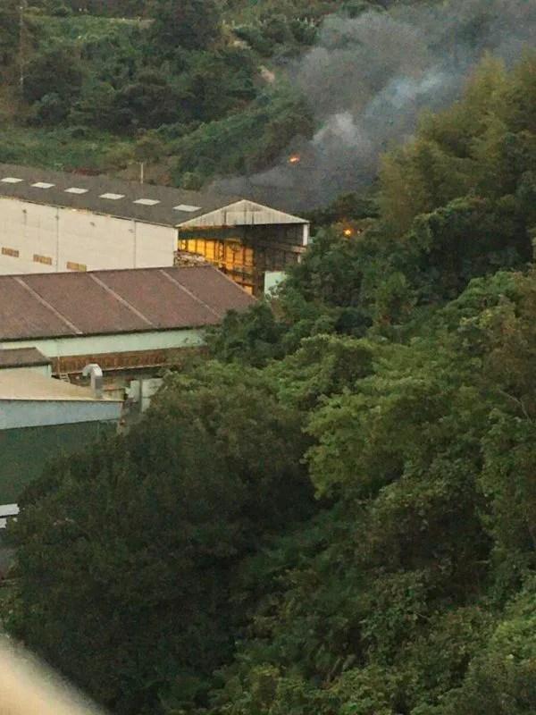 日立造船向島工場で火事