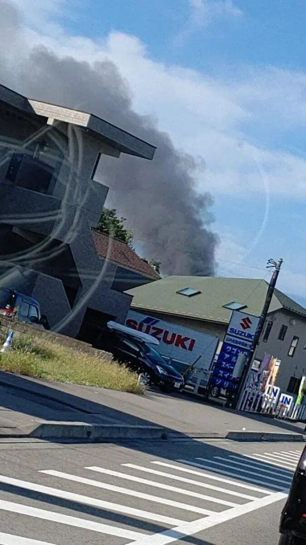 ブリヂストン栃木工場付近で火事