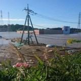 那珂川氾濫で水戸北インターが沈没