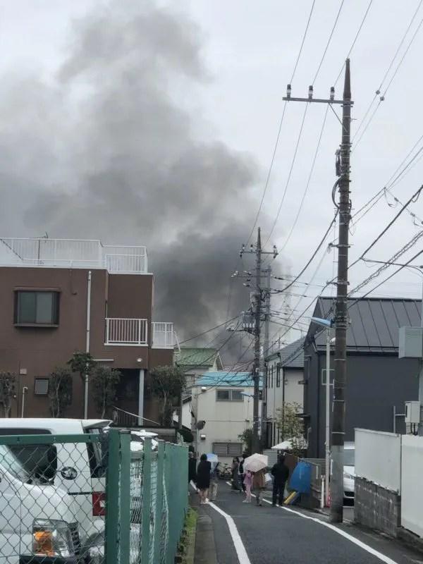 東京都杉並区和田 付近で火事