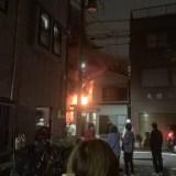川崎市川崎区鋼管通4丁目で火事