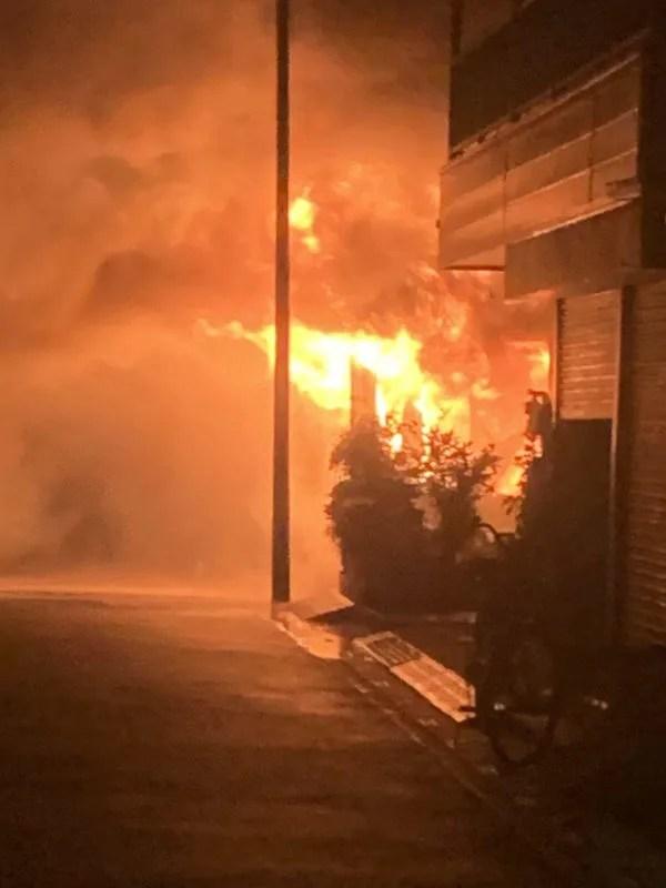 埼玉県川口市大字安行領根岸で火事 2019年10月30日