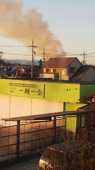 愛知県津島市申塚町 火事 2019年11月21日
