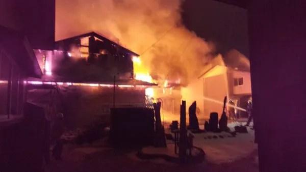 2019年12月10日 山形県西置賜郡小国町大字小国町付近 火事