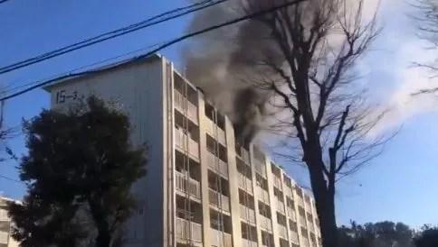 神奈川県横浜市旭区上白根町ひかりが丘団地で火事 原因は?速報動画と画像2020年1月19日