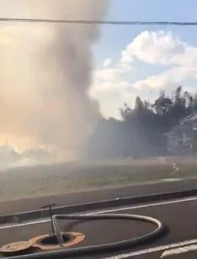 静岡県焼津市下江留で 火事 2020年2月5日