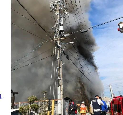 静岡県富士市中之郷 火事 2020年2月12日
