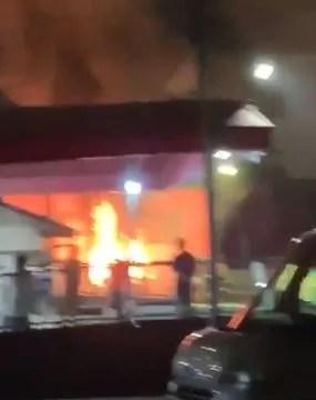 熊本市西区上熊本1丁目 火事 2020年9月8日