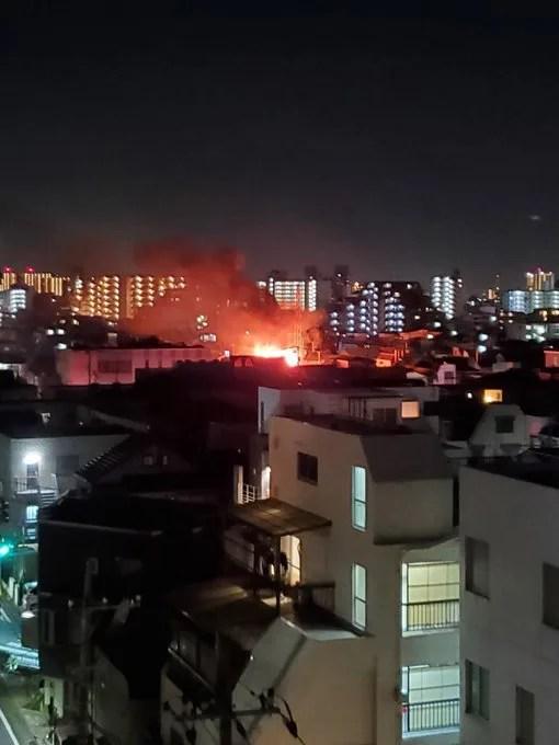 東京都大田区東六郷 火事 2020年9月8日