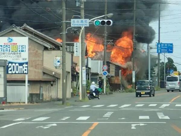 静岡県 島田市 金谷扇町 火事