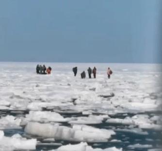 Более 300 российских рыбаков унесло на льдине в море