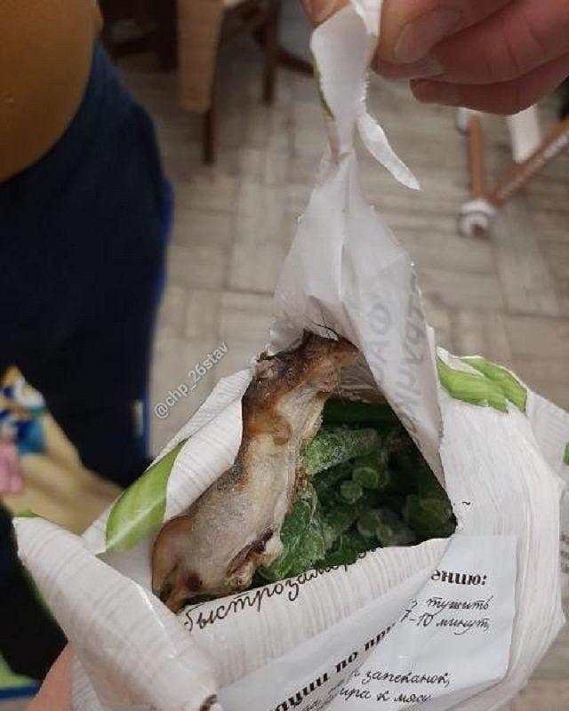 Замороженную мышь в пачке с фасолью обнаружил покупатель в Ставрополе