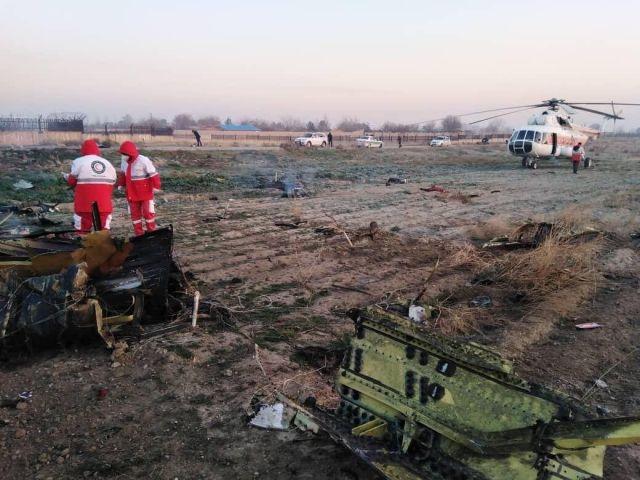 Все пассажиры и члены экипажа погибли при крушении украинского лайнера в Иране