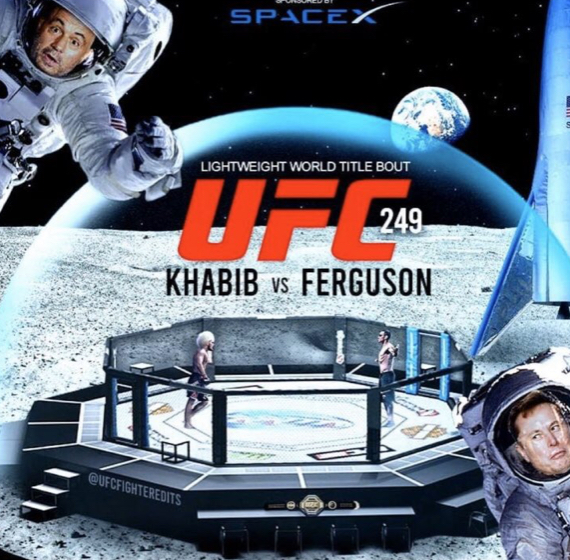 Глава UFC предложил Хабибу и Фергюсону сразиться на Луне