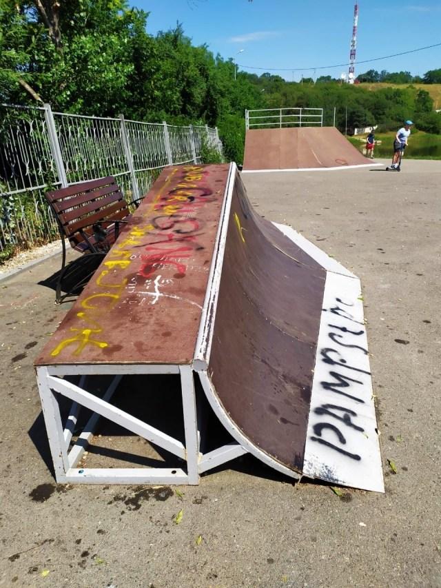 Роллердром и скейтпарк уничтожили вандалы в парке Железноводска