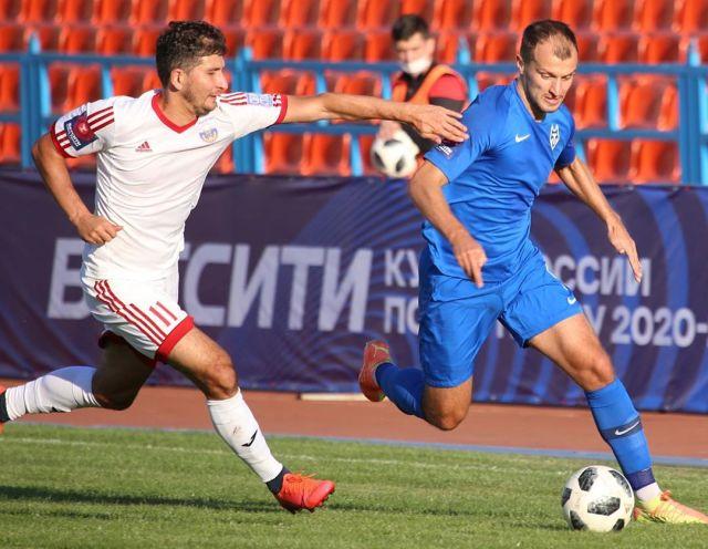 ФК «Машук – КМВ» с минимальным счетом 1:2 уступил «Тамбову» в кубковом матче