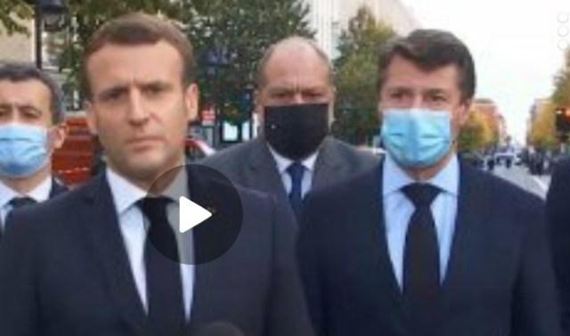 Эмануэль Макрон прибыл в Ниццу и выступил перед журналистами