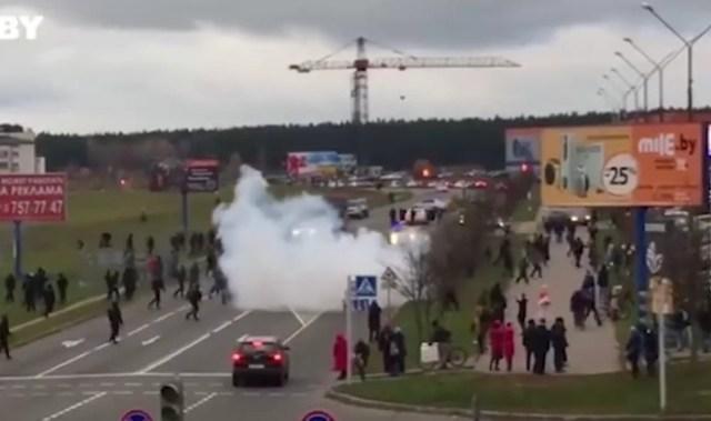 Несогласованная акция протеста в столице Белоруссии