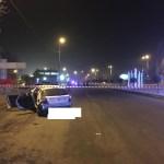 Лихач на Хендэ разбился при въезде в Кисловодск