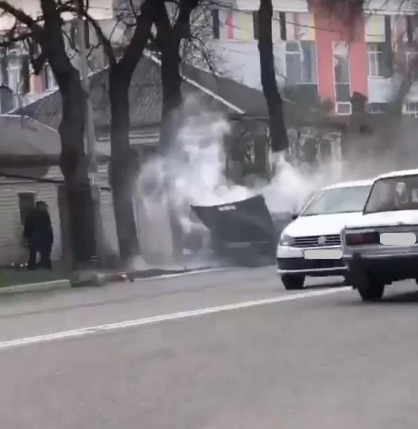 В Пятигорске взорвалась легковушка
