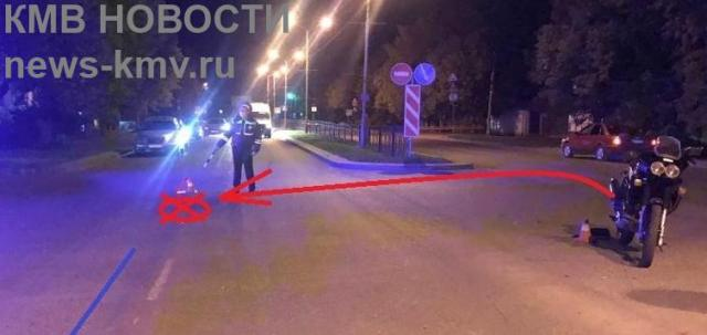 Мотоциклист попал под колёса легковушки в Железноводске