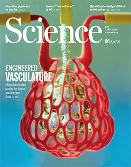 The cover of the May 3 issue of Science
