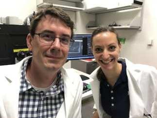 Rice bioscientists Matthew Bennett and Sara Molinari.