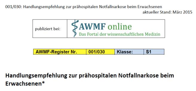 Awmf_Notfallnarkose