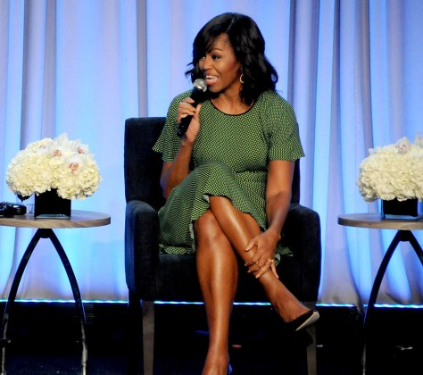 "First Lady Michelle Obama, discussing her ""Let Girls Learn"" initiative © 2016 Karen Rubin/news-photos-features.com"