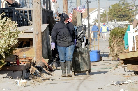 Extreme weather events like Superstorm Sandy which hit Breezy Point, Queens, NY, exacerbated by climate change impact public health physically and mentally © 2016 Karen Rubin/news-photos-features.com