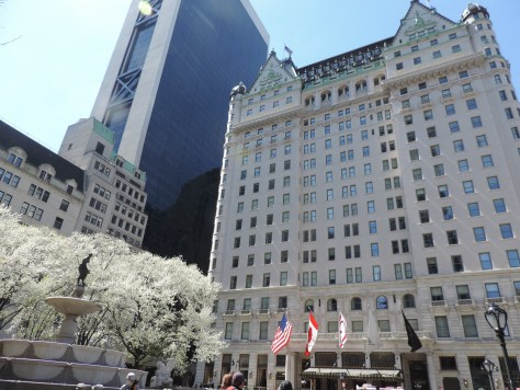 """Plaza Hotel, New York: """"The myth of Donald Trump reached its zenith in 1988, the year that his book, The Art of the Deal, was published. That year, Trump bought the Plaza Hotel, a crown jewel of New York real estate; he also bought a 282-foot yacht, and a fleet of airplanes owned by Eastern Air, which he renamed the Trump Shuttle,"""" The New York Times reported. By December 1990, as all of his ventures neared collapse, he filed for bankruptcy on the Plaza (© 2016 Karen Rubin/news-photos-features.com)."""