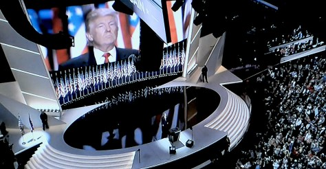 """Donald J. Trump accepts the Republican nomination for President """"humbly and gratefully."""" © 2016 Karen Rubin/news-photos-features.com"""