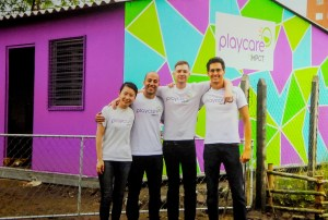 Hult Prize Winners of $1 million in start-up capital, IMPCT, for Playcares child care franchise model for Brazilian neighborhoods © 2016 Karen Rubin/news-photos-features.com