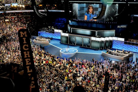 First Lady Michelle Obama addresses the Democratic National Convention © 2016 Karen Rubin/news-photos-features.com