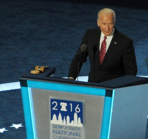 Vice President Joe Biden addresses Democratic National Convention, Philadelphia, July 27, 2016