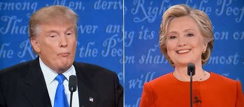"""Hillary Clinton and Donald Trump meet in first presidential debate: """"\""""I think Donald just criticized me for preparing for this debate. And, yes, I did. And you know what else I prepared for? I prepared to be president. And I think that's a good thing."""" © 2016 Karen Rubin/news-photos-features.com"""