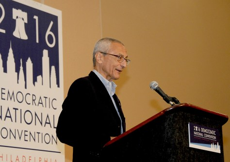 """Hillary for America Chair John Podesta: """"It is extraordinary that we would see something like this just 11 days out from a presidential election. The Director owes it to the American people to immediately provide the full details of what he is now examining. We are confident this will not produce any conclusions different from the one the FBI reached in July."""" © 2016 Karen Rubin/news-photos-features.com"""