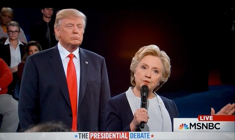 Donald Trump and Hillary Clinton, during presidential debate, have very different health care proposals © 2016 Karen Rubin/news-photos-features.com