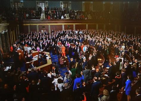 Members of the 115th Congress take oath © 2017 Karen Rubin/news-photos-features.com