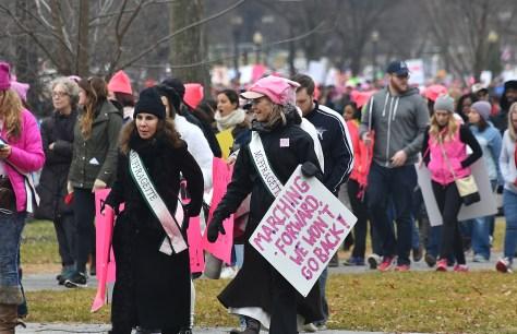 Marching Forward We Won't Go Back © 2017 Karen Rubin/news-photos-features.com