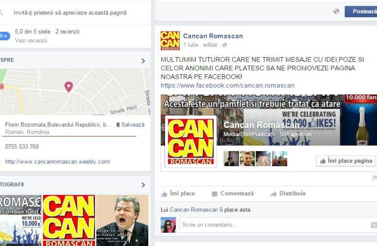 CanCan romașcan a dispărut de pe Facebook