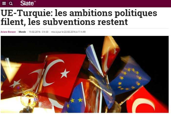 ЕС-Турция: политика уходит, субсидии остаются