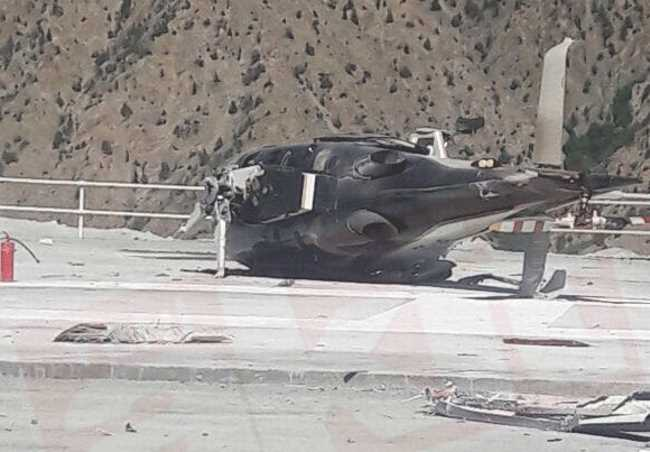 Вертолет с главой DSİ потерпел крушение